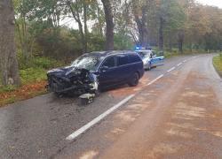 Wypadek samochodowy na trasie Opalino-Rybno
