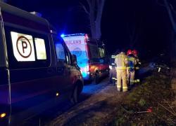 Wypadek drogowy w Strzebielinku