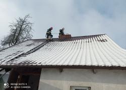 Pożar sadzy w kominie w Toliszczku