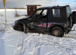 Wypadek samochodowy w Strzebielinku - 28.01.2021
