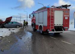 Wypadek samochodowy w Strzebielinku