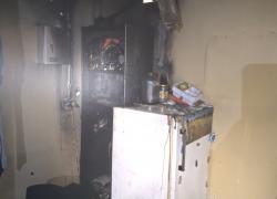 Pożar pomieszczenia w Elektrowni Wodnej Żarnowiec - 12.03.2021